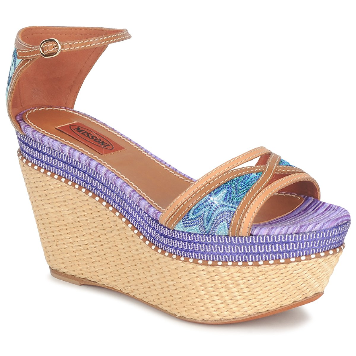 Sandales Missoni TM26 Bleu / Marron