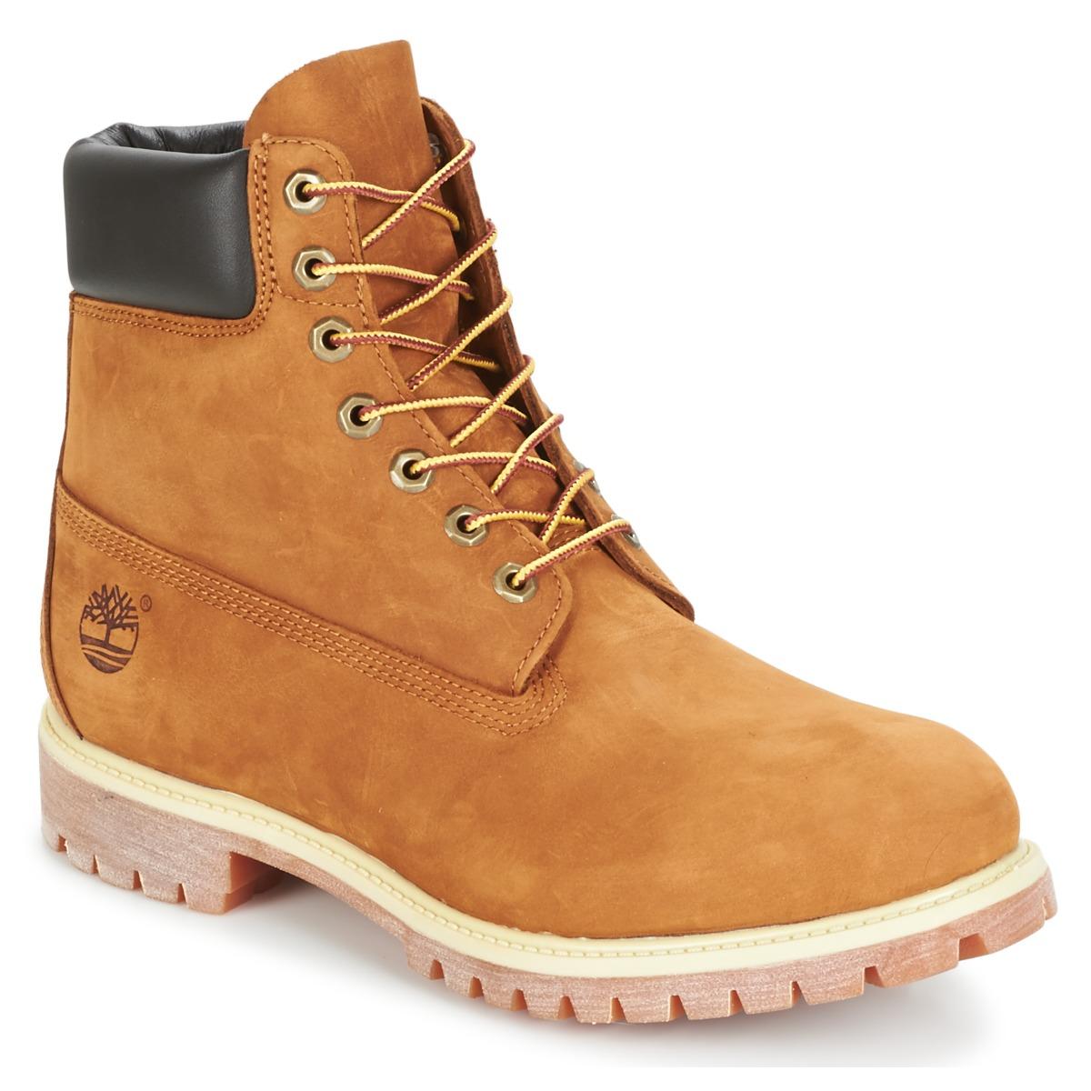 boots timberland 6 in premium boot marron livraison gratuite avec chaussures. Black Bedroom Furniture Sets. Home Design Ideas