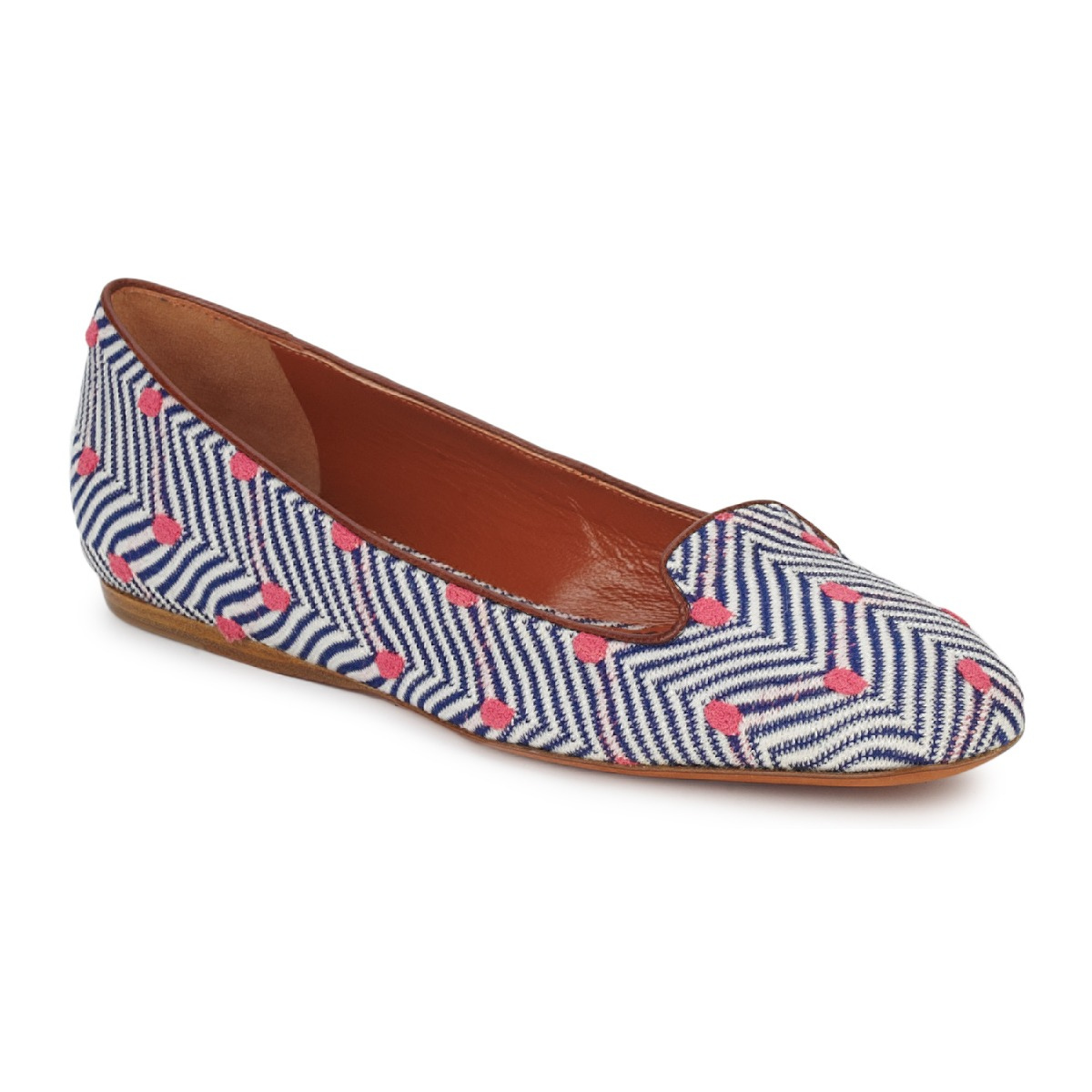 Mocassins Missoni VM036 Bleu / Rose