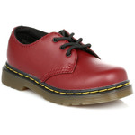 Derbies Dr Martens Kids Rouge Cerise Colby Softy T Chaussures En Cuir