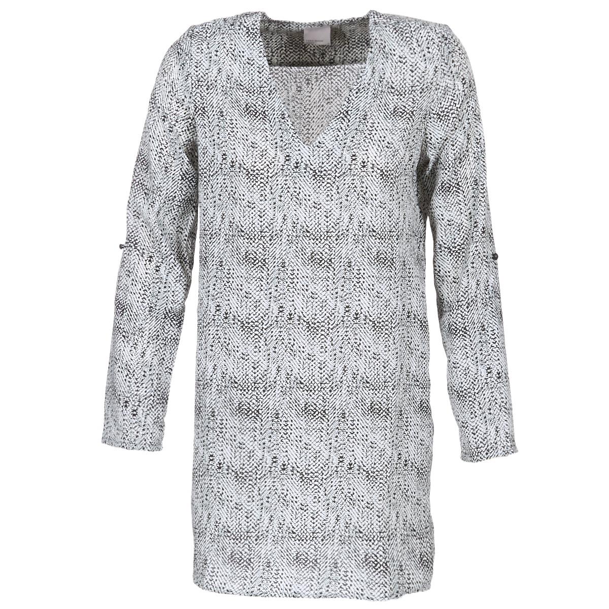robes courtes vero moda coco noir blanc livraison gratuite avec v tements. Black Bedroom Furniture Sets. Home Design Ideas