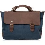 Sac porté main Oh my bag Cartable CUIR et TOILE - Modèle MOOREA - Cartable porté main et