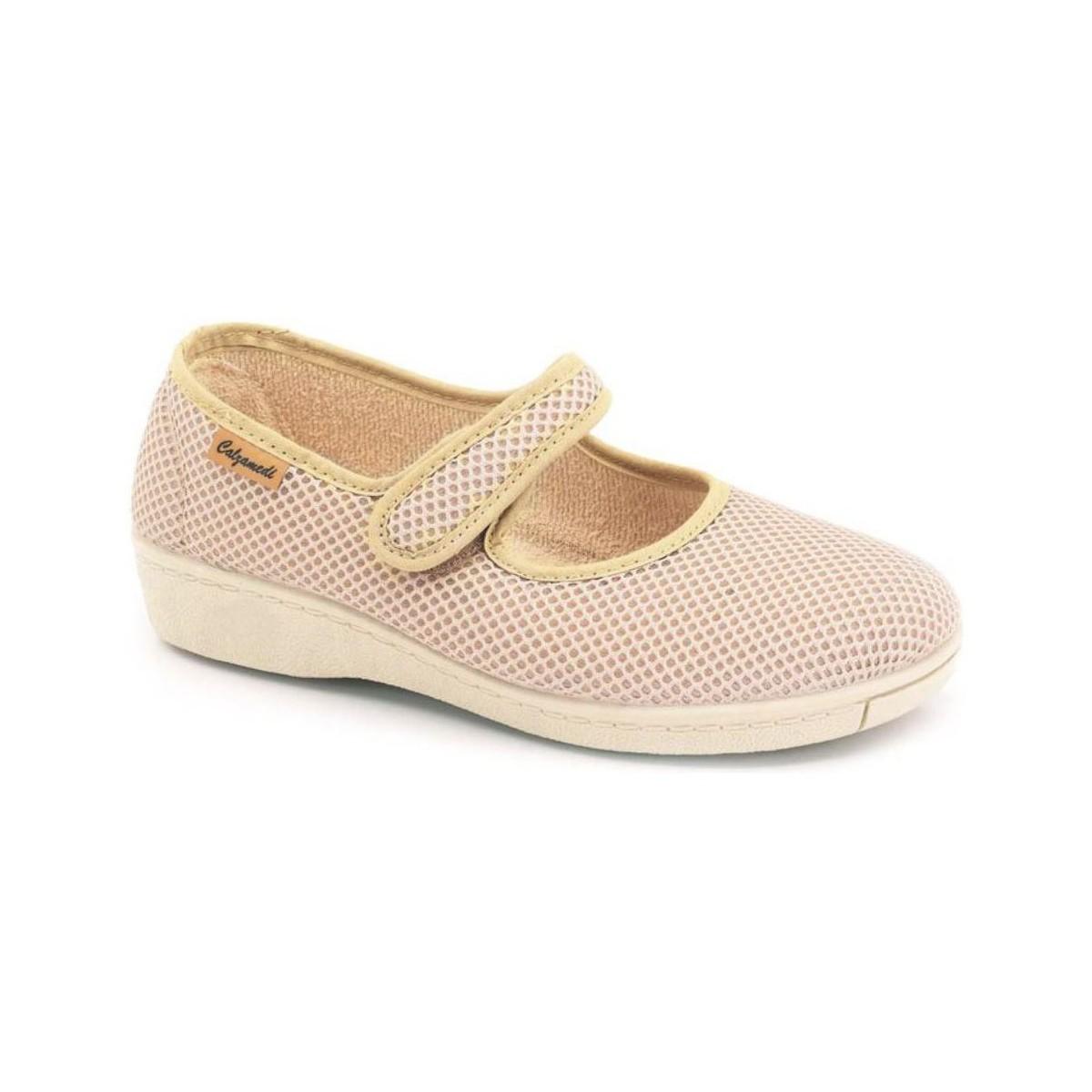 ballerines calzamedi danseurs de semelles orthop diques beige chaussures femme 44 90. Black Bedroom Furniture Sets. Home Design Ideas