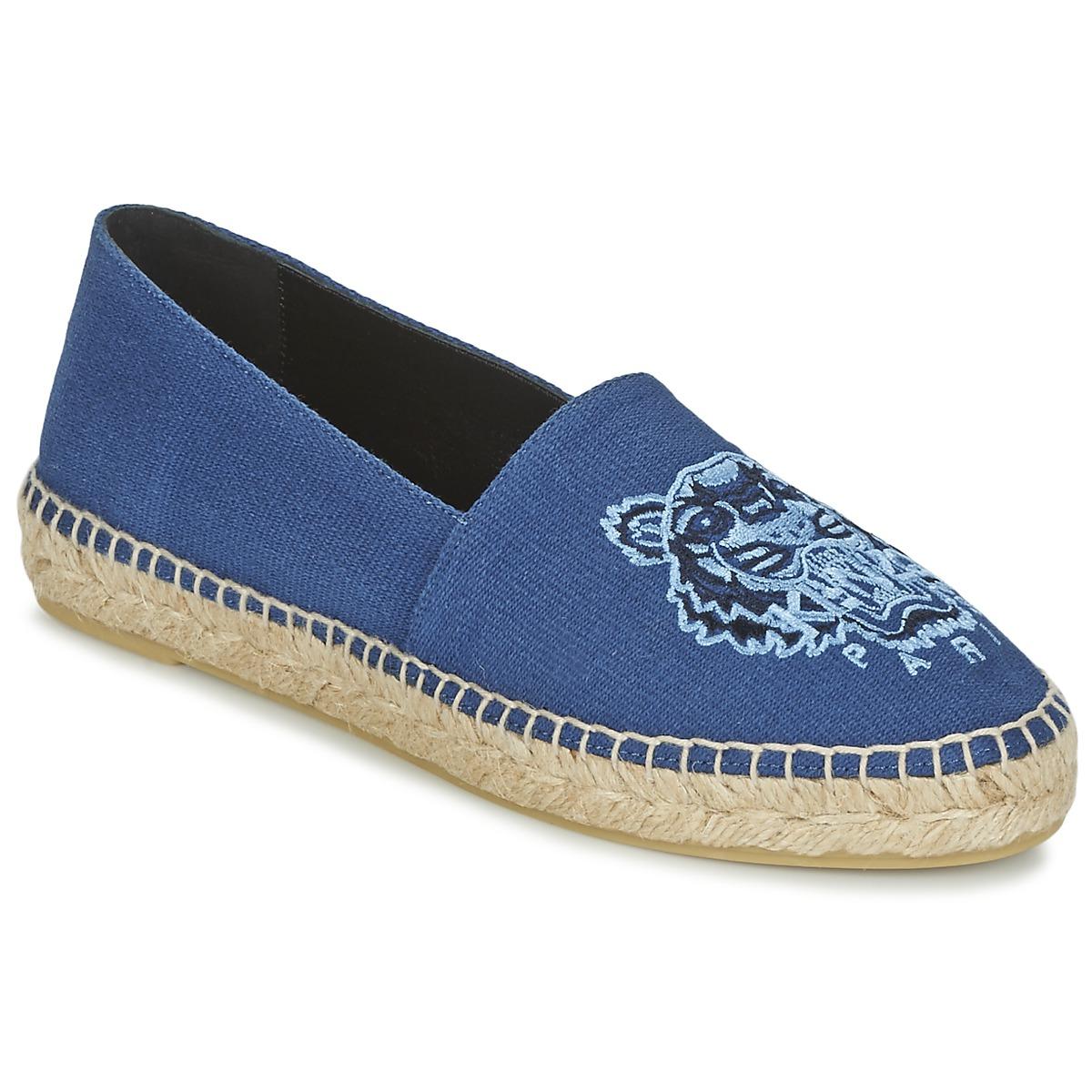 espadrilles kenzo tiger head bleu livraison gratuite avec chaussures femme 145. Black Bedroom Furniture Sets. Home Design Ideas