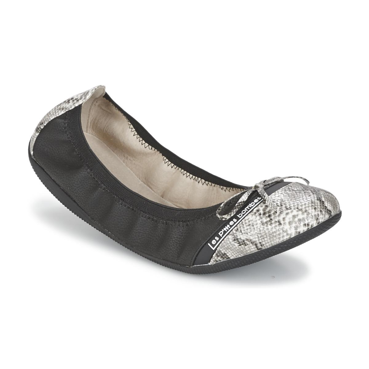 ballerines les p 39 tites bombes caprice noir livraison gratuite avec chaussures. Black Bedroom Furniture Sets. Home Design Ideas