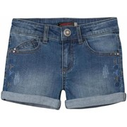 Shorts & Bermudas Catimini - Short toile denim stretch bleu stoné enfant fille