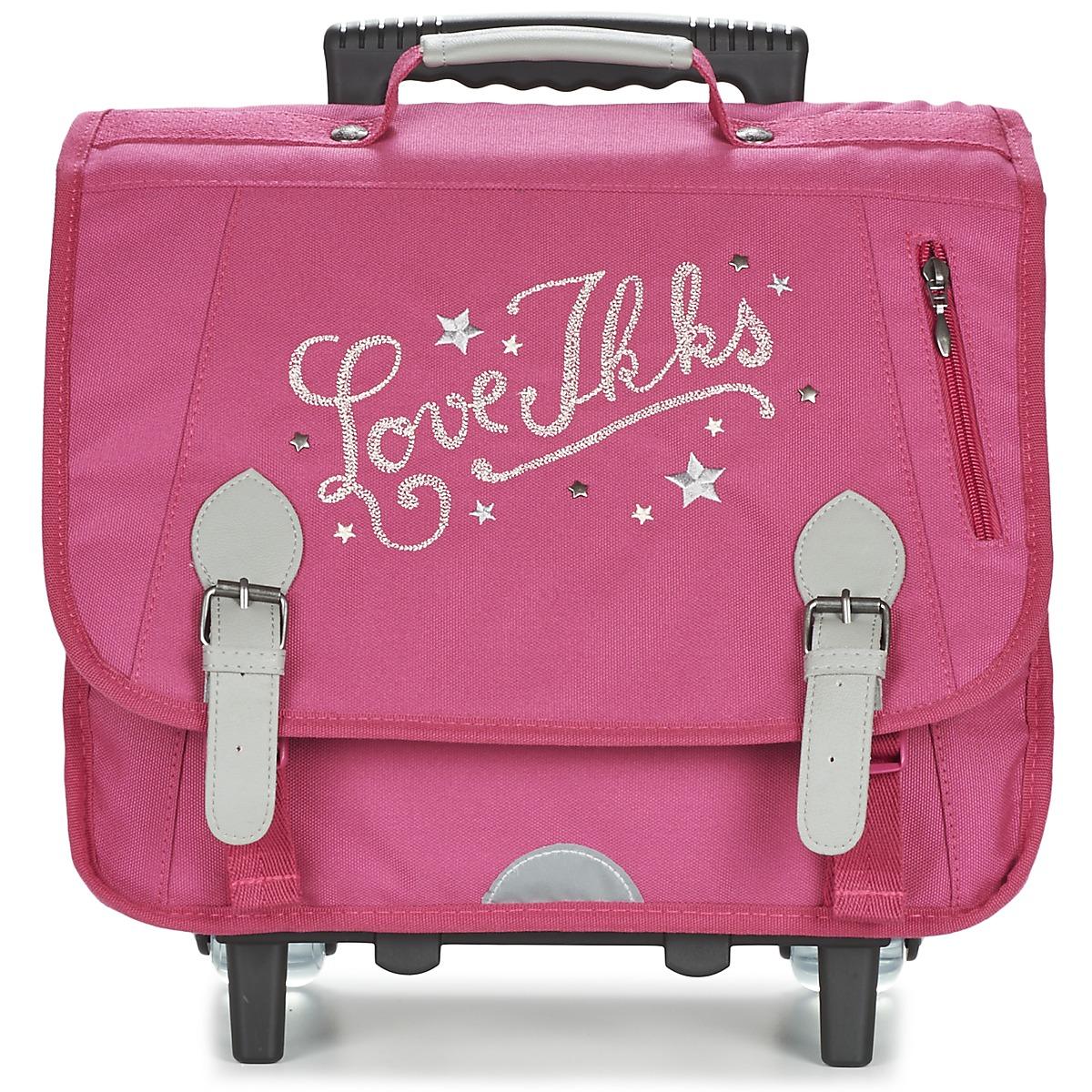 ikks love ikks trolley cartable 38cm rose livraison gratuite avec sacs sacs. Black Bedroom Furniture Sets. Home Design Ideas