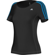 T-shirts manches courtes adidas Performance T-shirt Clima 3 bandes Essentiels