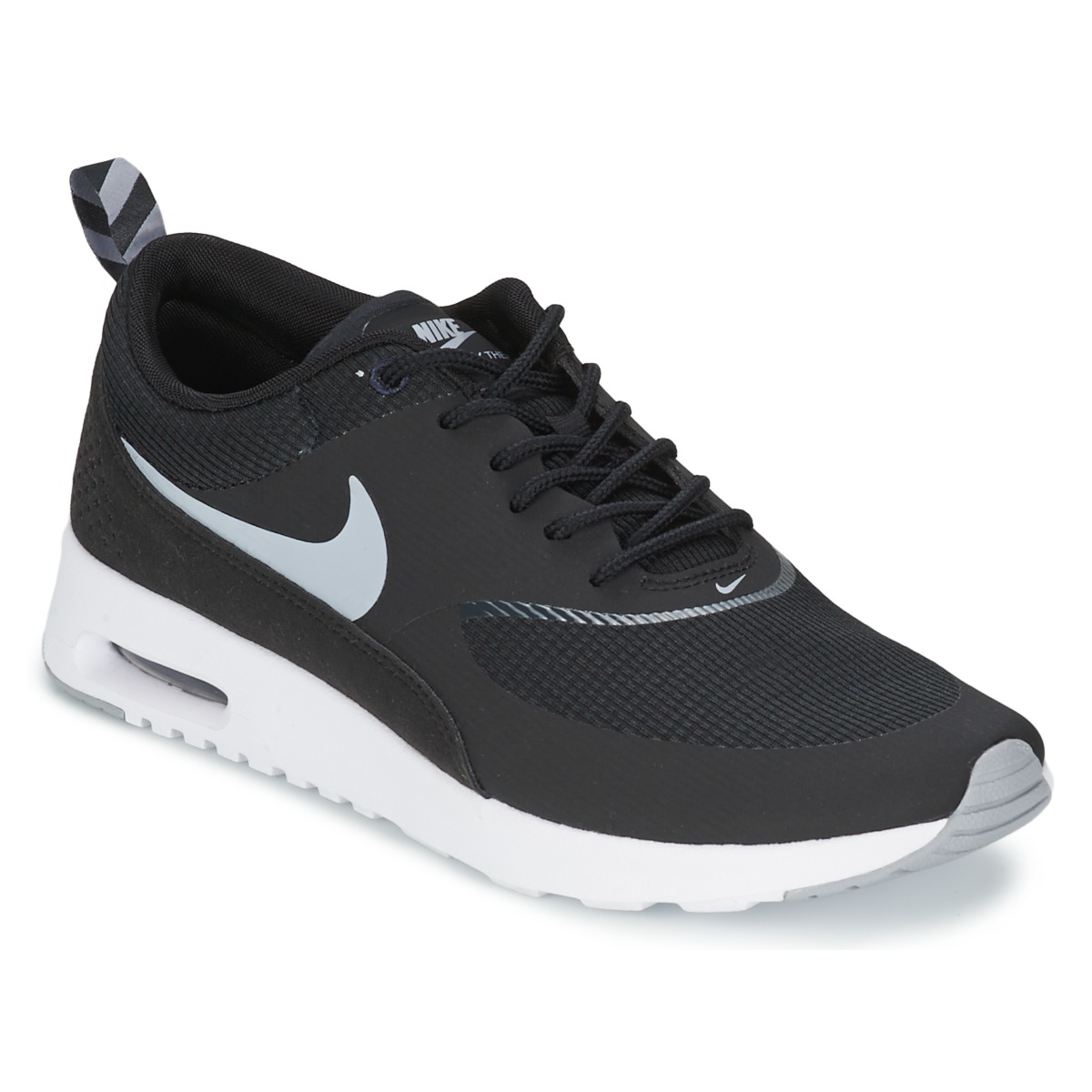 baskets basses nike air max thea noir wolf grey anthracite blanc livraison gratuite avec. Black Bedroom Furniture Sets. Home Design Ideas