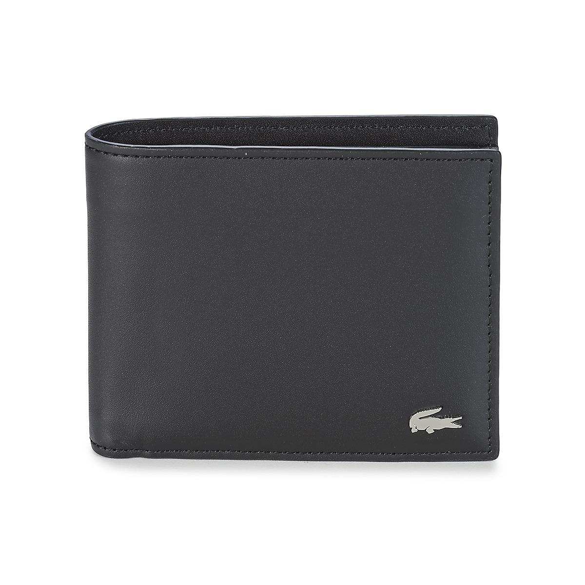 portefeuilles lacoste fg noir livraison gratuite avec spartoo sacs homme 79 99