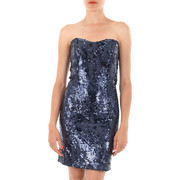 Robes courtes Guess Robe Strass Crystal  Marine