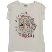 T-shirts manches courtes Chipie Tee Shirt Mc Kalamity Jean  Ecru