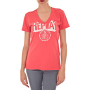 T-shirts manches courtes Replay Tee Shirt Mc  Rouge