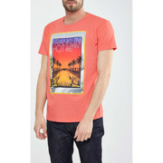 T-shirts manches courtes Franklin & Marshall Tee Shirt Mc Franklin And Marshall Rose