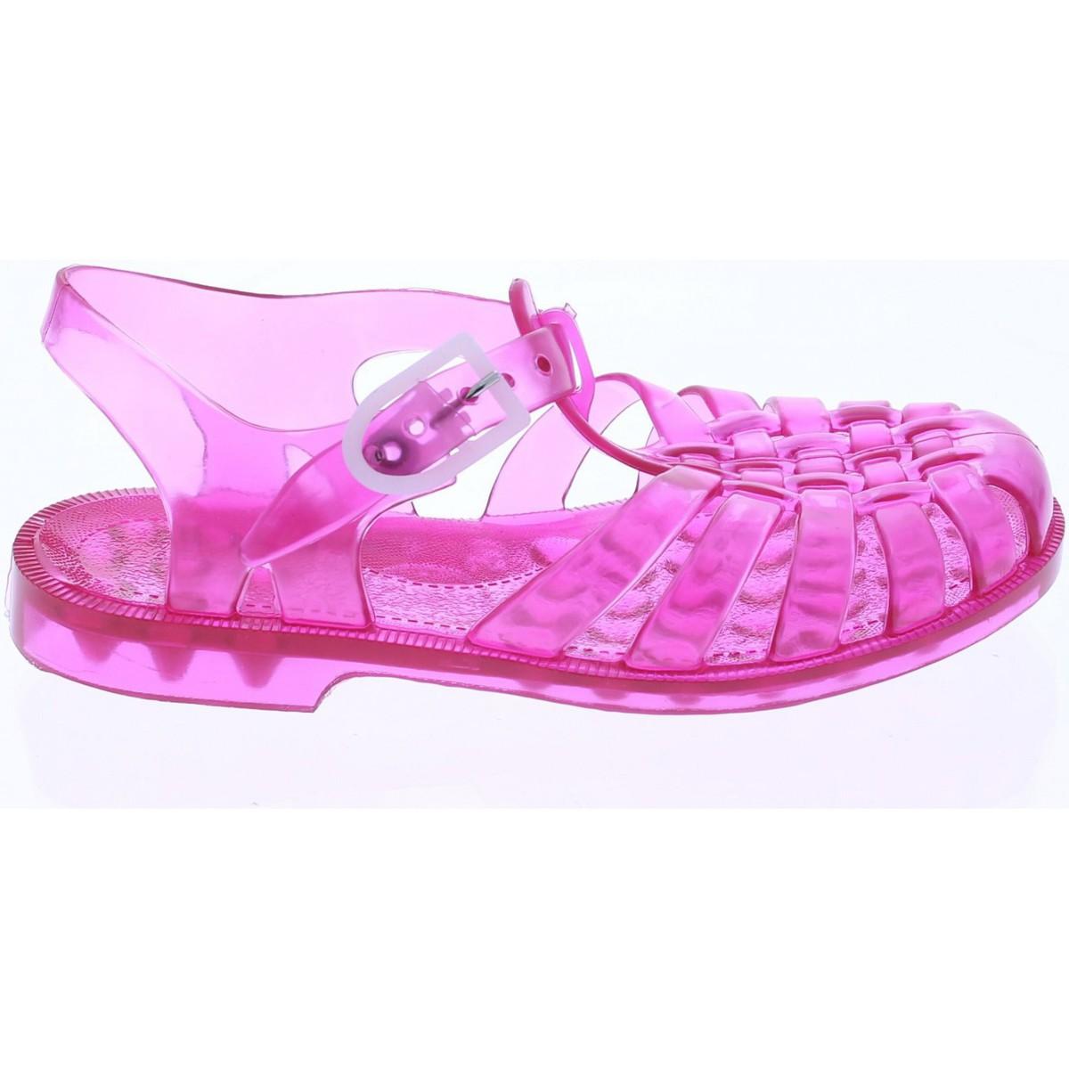 chaussures aquatiques m duse sandales fille en plastique rose groseille rose chaussures enfant. Black Bedroom Furniture Sets. Home Design Ideas