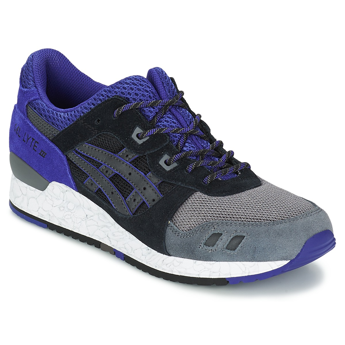 baskets basses asics gel lyte iii noir livraison gratuite avec chaussures 115 00. Black Bedroom Furniture Sets. Home Design Ideas