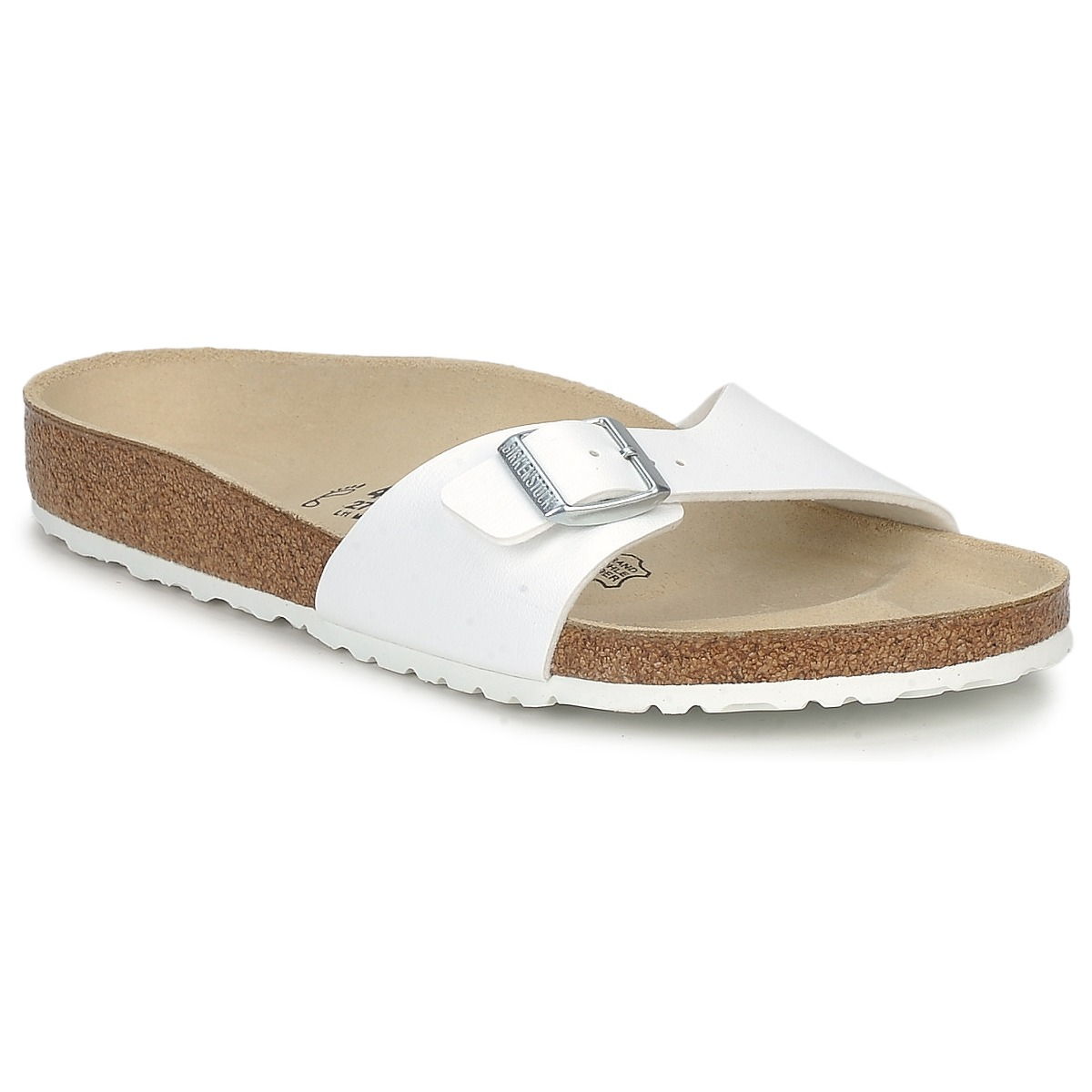mules birkenstock madrid blanc livraison gratuite avec chaussures homme 51 99. Black Bedroom Furniture Sets. Home Design Ideas