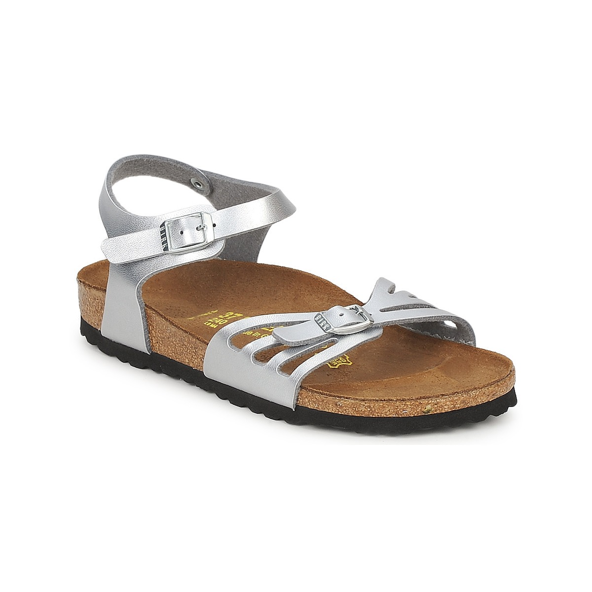 sandale birkenstock bali argent livraison gratuite avec chaussures femme 77 99. Black Bedroom Furniture Sets. Home Design Ideas