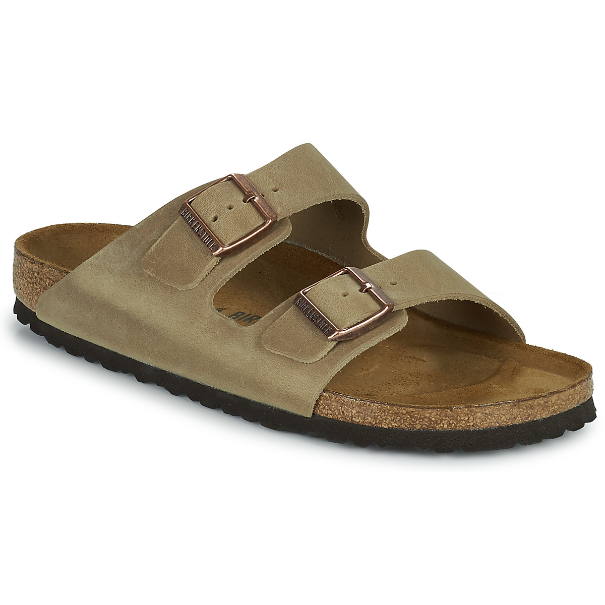 mules birkenstock arizona premium marron livraison gratuite avec chaussures. Black Bedroom Furniture Sets. Home Design Ideas