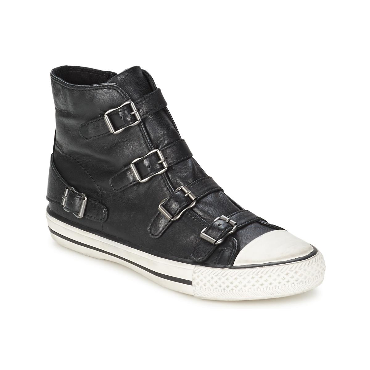 baskets montantes ash virgin noir livraison gratuite avec chaussures femme 139. Black Bedroom Furniture Sets. Home Design Ideas