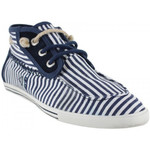 Baskets montantes People'Swalk Gennaker polycanvas Bleu