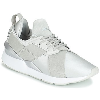 Chaussures Femme Baskets basses Puma WN MUSE SATIN II.GRAY Gris