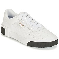 Chaussures Femme Baskets basses Puma WN CALI FASHION.WH-BL Blanc / Noir