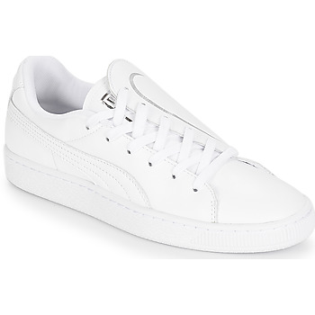 Chaussures Femme Baskets basses Puma WN BASKET CRUSH EMBOSS.WH Blanc