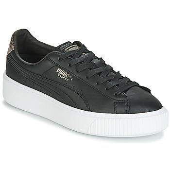 Chaussures Femme Baskets basses Puma WN PLATFM OPULENT.BL Noir