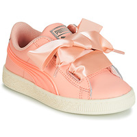 Chaussures Fille Baskets basses Puma PS BASKET HEART JELLY.PEAC Rose