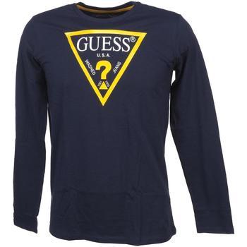 T-shirt enfant Guess Ls t shirt core deck blue