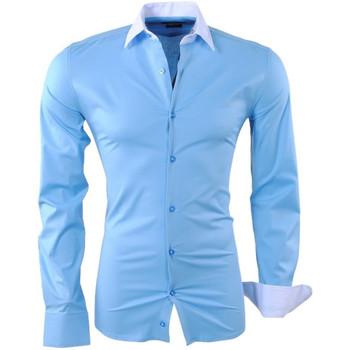 Vêtements Homme Chemises manches longues Kc 1981 Chemise fashion pour homme Chemise 1123 bleu clair Bleu