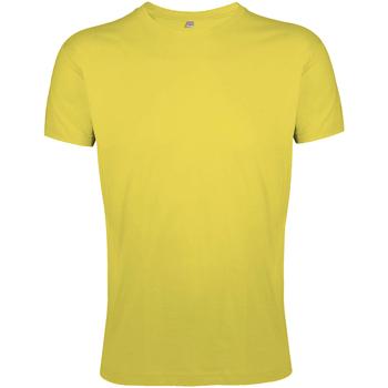 Vêtements Homme T-shirts manches courtes Sols Slim Fit Jaune