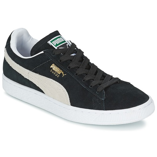 official photos 60ac5 dda06 Chaussures Baskets basses Puma SUEDE CLASSIC + Noir   Blanc