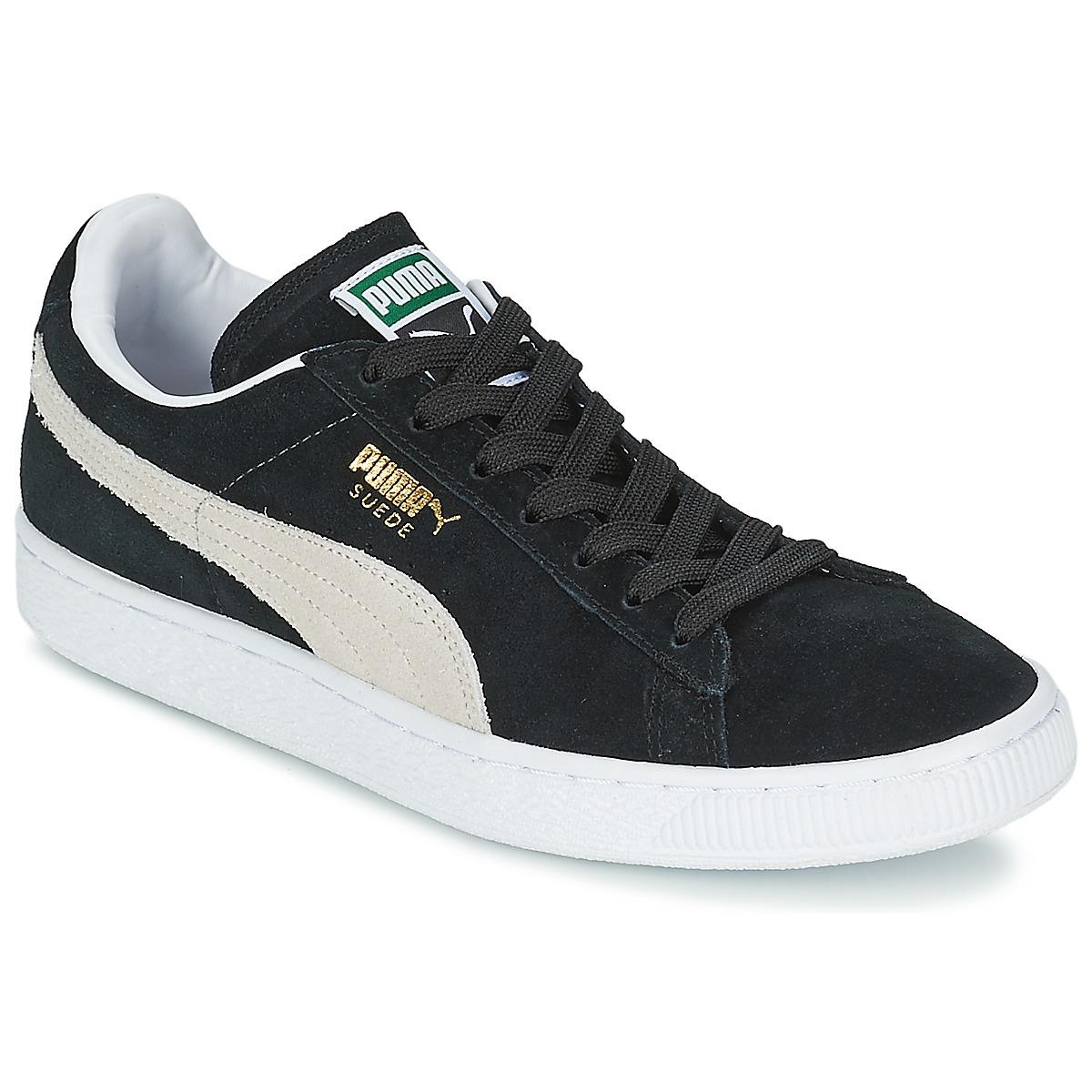 Puma SUEDE CLASSIC+ Noir / Blanc