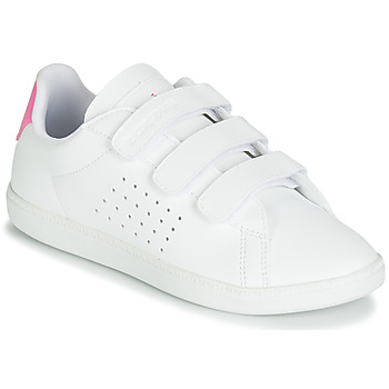 Chaussures Fille Baskets basses Le Coq Sportif COURTSET PS Blanc / Rose