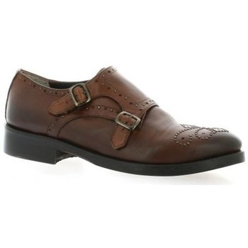 Chaussures Femme Derbies Pao Derby cuir Cognac