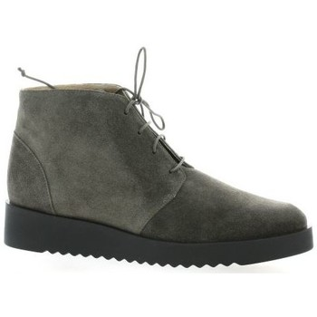 Chaussures Femme Boots Brenda Zaro Boots cuir velours Gris