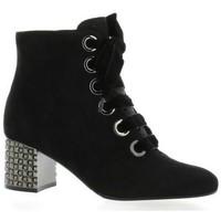 Chaussures Femme Bottes ville Adele Dezotti Boots cuir velours Noir