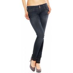 Vêtements Femme Jeans slim Le Temps des Cerises Jean Slim  216 MAGGIWT154 Bleu Noir