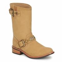 Chaussures Femme Boots Miss L'Fire MCQUEEN Beige