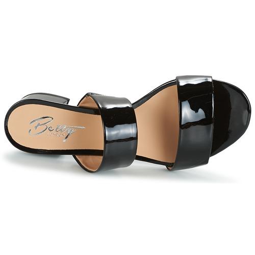 Noir Betty Bamalea Verni Femme Mules Chaussures London gfyb7Y6v