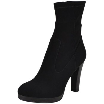 Chaussures Femme Bottines The Divine Factory Bottine tdf823 Noir 2