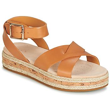 68f3604ea62f0b Chaussures Femme Sandales et Nu-pieds Clarks BOTANIC POPPY Marron