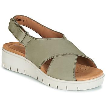 Chaussures Femme Sandales et Nu-pieds Clarks UN KARELY SUN Vert