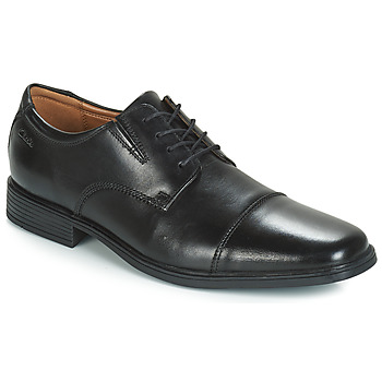 Chaussures Homme Derbies Clarks Tilden Cap Black Leather