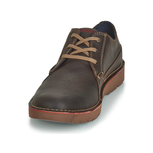 Marron Plain Derbies Chaussures Clarks Homme Vargo A3j54LqR
