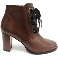 Chaussures Femme Bottines Brenda Zaro Boots Talon Camel Marron