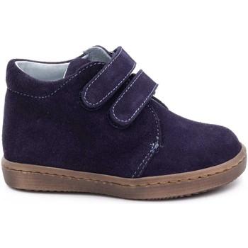 Chaussures Garçon Boots Boni Classic Shoes Boni Stanislas - Bottines garçon 19-25 Daim Bleu Marine