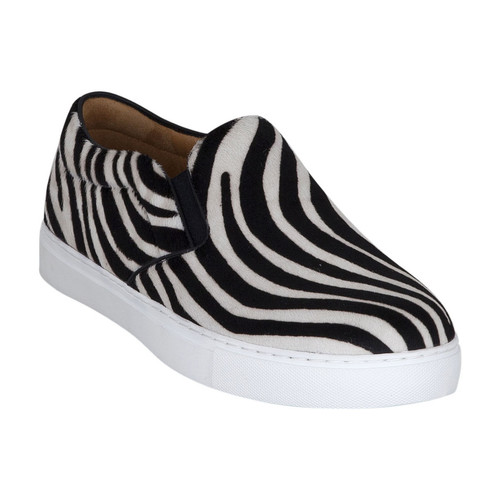 Chaussures Femme Slip ons Kesslord KOOL KESKATE_ZEB_BL Blanc